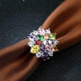 지르콘 다이아몬드 반지는 많은 것 혼합 지르콘 백금에 의하여 도금된 여자 반지를 착색한다