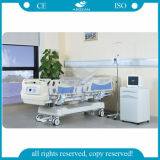 AG-By009 que pesa el tipo 5 cama de hospital eléctrica de la función para el sitio de ICU
