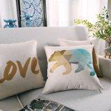 Almofadas de algodão de luxo para almofadas de linho para limpeza de cama