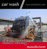بكرة شاحنة عجلة غسل آلة تلقائيّا طين عمليّة تفريغ