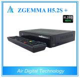 Zgemma original H5.2s mais a caixa da televisão satélite de DVB-S2+DVB-S2/S2X/T2/C Hevc H. 265