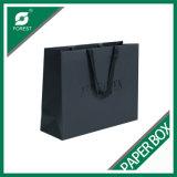 Черный бумажный мешок с оптовой продажей печатание логоса
