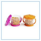 Acessórios do lazer coletor do petisco de 2 partes, cor-de-rosa/laranja