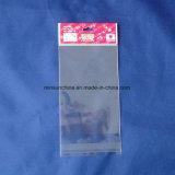 OPP cancelam o saco principal do empacotamento plástico do cartão com furo de suspensão