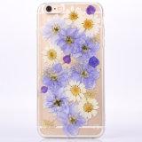 Tampa traseira protetora floral transparente para iPhone 7