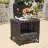Europäischer im Freien Balkon-Garten-Rattan-Stuhl und Kaffeetisch-Klage