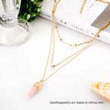 Сердце ожерелья способа чувствительные самоцветные Multi наслоенные & шкентель формы пули