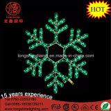 Indicatore luminoso di natale d'attaccatura rosso della corda del fiocco di neve del fiocco di neve del LED per la decorazione domestica