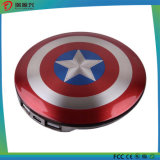 Banco sem fio da potência do capitão América