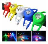 자전거 LED 정면 후방 저속한 가벼운 경고 6 색깔 램프