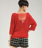 100% 대나무 털실 손 뜨개질을 하는 털실 스웨터 조끼 크로셰 뜨개질 털실