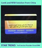 Cartão plástico de fidelidade com fita magnética (ISO 7811) para membro do clube