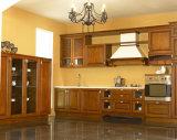 ホーム家具のクラウンモールディングの上げられたパネルフレームより少なくのRtaの純木の食器棚