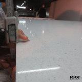 白いミラー2cmの磨かれた水晶石の平板