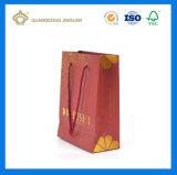 Impresión de encargo al por mayor de la bolsa de papel del OEM para la joyería (insignia de sellado caliente)