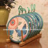 Retro Ceramische Onderlegger voor glazen ceramische Gfit van de Stijl met Kabel voor Herinnering