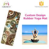 Циновка йоги микро- замши Recycable резиновый с печатание конструкции Logo&Custom