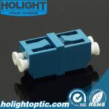 Adaptador LC de la fibra a la pérdida de inserción inferior azul unimodal a dos caras del LC