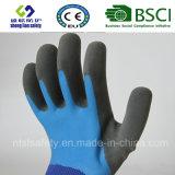 Перчатки замороженные латексом, перчатки работы безопасности отделки Sandy (SL-RS305)