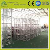 Ферменная конструкция квадрата освещения болта винта представления партии выставки этапа алюминиевая