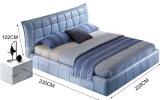 Nueva base moderna elegante del cuero genuino (HC328) para el dormitorio