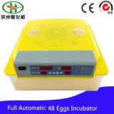 가금 소형 완전히 자동적인 닭 48 계란 부화기 기계