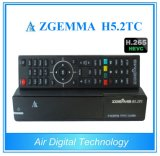 Hevc/H. 265 Caixa de HDTV Zgemma H5.2tc descodificador de satélite SO Linux Enigma2 DVB-S2+2*DVB-T2/C sintonizadores duplos