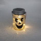 Solar de Navidad LED luces de la luciérnaga en Mason Jar