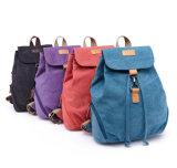Unisex мешок Backpack холстины Daypack Drawstring тенденции для школы/студента напольных