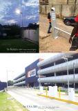 50W IP68 impermeabilizan la luz de calle solar integrada al aire libre del LED