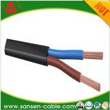 Fil électrique à plat flexible de jupe de PVC d'isolation de PVC de H03V2V2h2-F