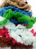 半分のビロードの羽のMicrofiber豪華な手のニットのかぎ針編みの編むヤーン
