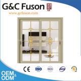Puerta deslizante de cristal doble de aluminio de la prueba del sonido del diseño moderno