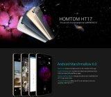 Original Homtom Ht17 5.5 pouces 1280X720HD 4G FDD Android 6.0 Fingerprint Quad Core 1GB + 8GB 13MP Nouveau téléphone intelligent Noir Couleur