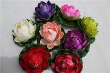 Buntes künstliches Lotos-künstliches Wasser-sich hin- und herbewegende Lilie für Dekoration