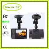バックミラーCarcam 3.5インチ二重レンズの手段DVR