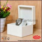 Cadre de montre personnalisé par luxe de cuir de noir de Mens de logo
