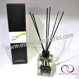 150ml ontruim de Vierkante Verspreider van het Riet van het Aroma van de Wierook van het Glas van het Parfum met Stokken Ratten voor de Reeks van de Gift