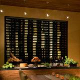 Cave de vinho Metal Display Storage Rack de garrafa de vinho montado na parede