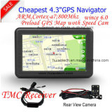 """Поддержка Bluetooth вспышки RAM 128MB 8GB дешевого навигатора Portablet Satnavi GPS автомобиля сбывания 4.3 фабрики """" Built-in, ISDB-T; AV-в для задней камере стоянкы автомобилей; Навигация GPS"""