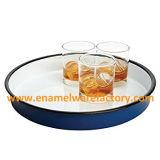エナメルの鍋はエナメルの調理器具ボールの皿の食糧版をセットする