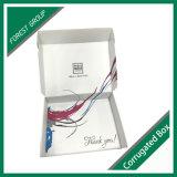 Weißes Wellpappen-Kasten-Verschiffen mit Firmenzeichen-Drucken