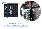 P7.62 aperfeiçoam do módulo interno do diodo emissor de luz da tela de indicador do diodo emissor de luz da cor cheia do efeito da visão o gabinete de alumínio de fundição