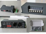 дешифратор 15kHz 12-24VDC 6A*4CH DMX512 на 256 серых шагах или 8kHz на 4096 серых шагах