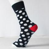 Großhandelsform-trifft kundenspezifisches Mann-Kleid Punkt-glückliche Socken hart