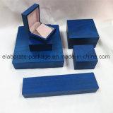 Joyero de madera verdadera final mate de la caja cuadrada de embalaje