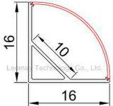Profilo d'angolo di alluminio, diffusore opaco opalino di PMMA
