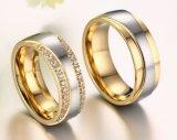 Anel de ouro novo do anel de casamento do estilo