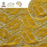衣服及びホームTextileslln10045のための葉パターン高品質の刺繍のレースファブリックポリエステルトリミングの空想の溶解のPolysterのレース