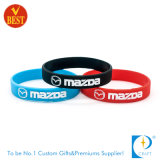 Wristband de borracha macio imprimido costume de China